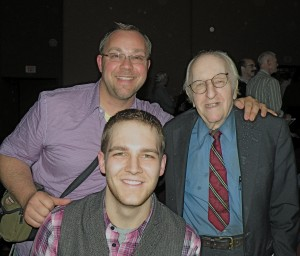 Stephan, Patrick, and Dr. Kameny last Saturday night