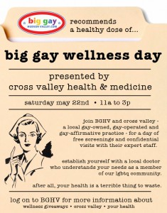 big gay wellness day full page ad